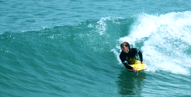 BodyBoarding at Towan Bay Newquay