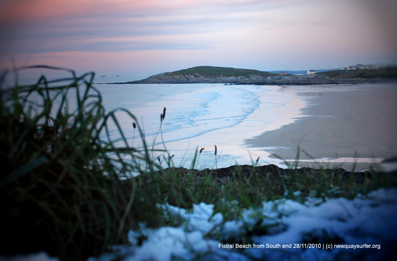 Fistral Beach Winter - View from south end