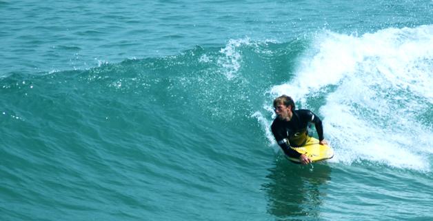 BodyBoarding at Towan Bay Newquay