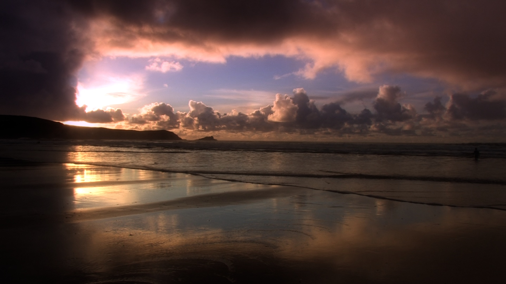 Fistral Beach - sunset 14/11/2010