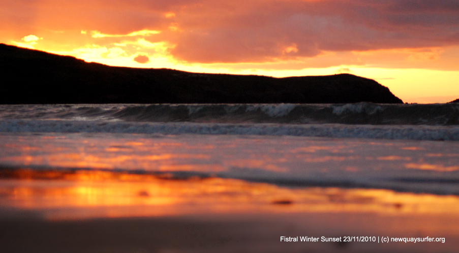 Fistral Beach - Sunset 24/11/2010